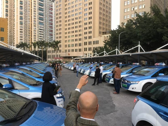 Electrified bus and taxi fleet in Shenzhen